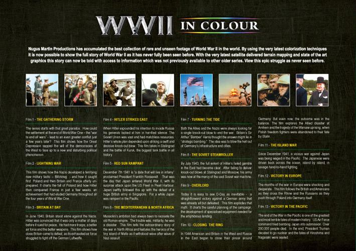 WWII in Colour - 4 Disc DVD Set - 88.6KB